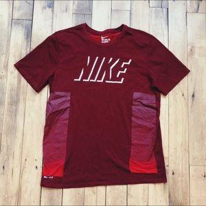 Red Men's Nike Shirt